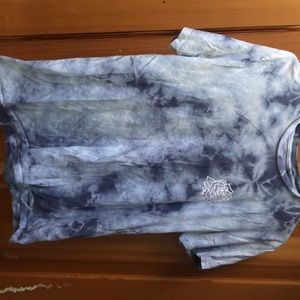Obey Tops - Obey Tee with blue tie dye